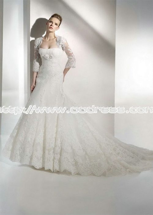 Modern Strapless Mermaid/Trumpet Empire Chiffon White Wedding Dresses,White Wedding Dresses.White Wedding Dresses