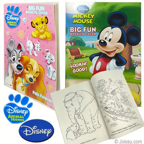 Assorted Disney Big Fun Coloring Books Drawing Kits Coloring Books Wholesale Party Supplies