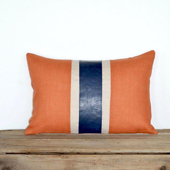 Modern Family Pillow Stripe : Modern Leather