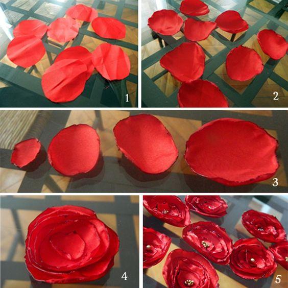 Tutoriel bouquet de fleurs en satin Plus: