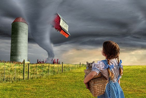 Dorothy and the Tornado by AdamBaronPhoto, via Flickr