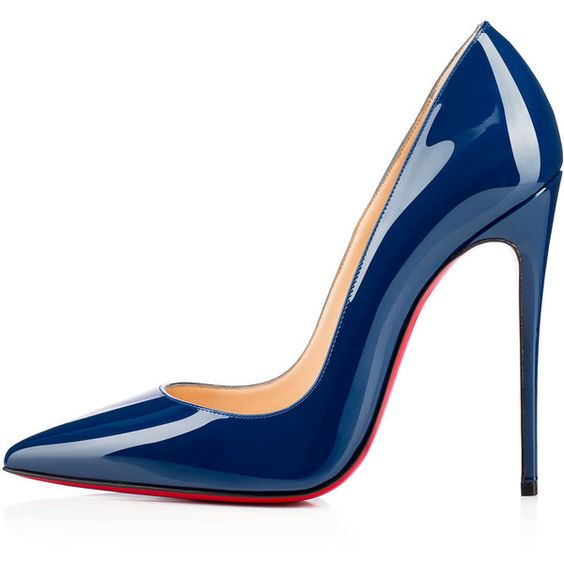 Christian Louboutin So Kate (£465) ❤ liked on Polyvore featuring shoes, pumps, heels, blue, christian louboutin, stiletto heel pumps, patent pumps, sexy high heel pumps, sexy stilettos and patent leather pointed toe pumps