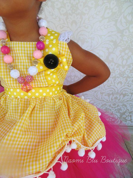 Lalaloopsy Crumbs Sugar Cookie Tutu Dress and Apron. by NaomiBlu