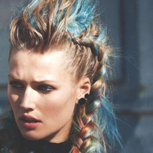 50 Geflochtene Mohawk Frisuren Mohawk Frisur Frisuren Haar Styling