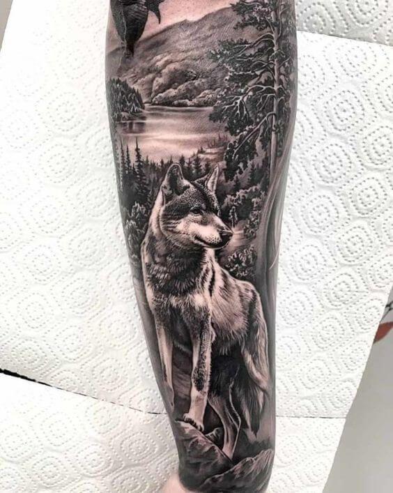 25 Wolf Forearm Tattoo Ideas For Men Women Petpress In 2020 Animal Sleeve Tattoo Wolf Tattoos Men Wolf Sleeve