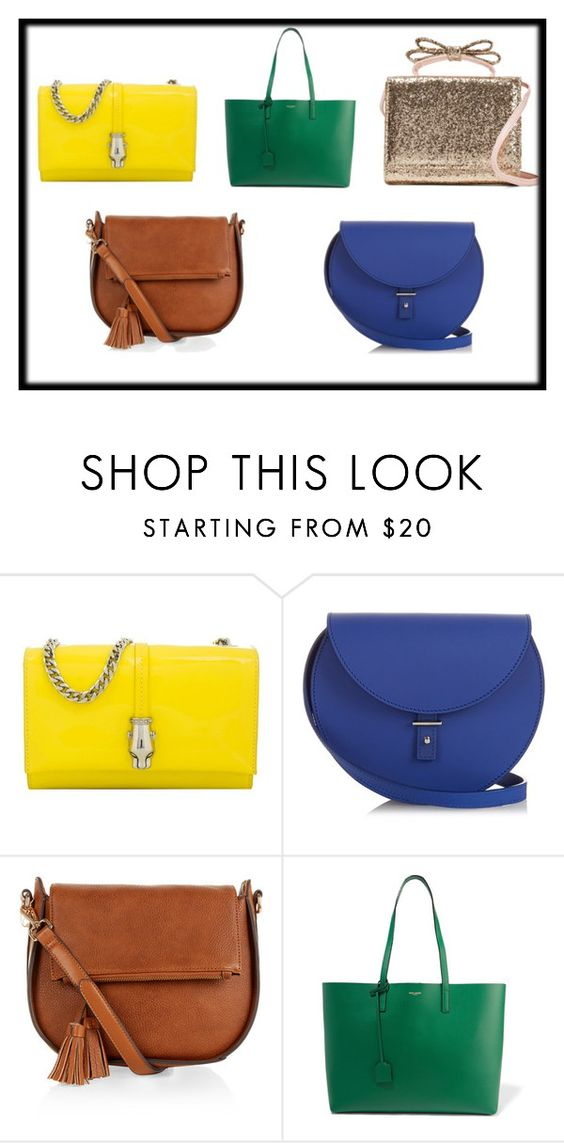 """Bags"" by juliaknjazeva ❤ liked on Polyvore featuring Class Roberto Cavalli, PB 0110, Monsoon, Yves Saint Laurent and RED Valentino"