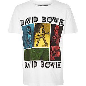 "Weißes T-Shirt mit ""David Bowie""-Print"
