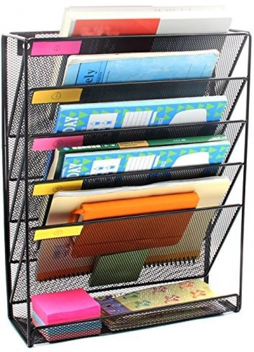 Help Organizer Desk Clutter Wall Mounted File Holder Easy To