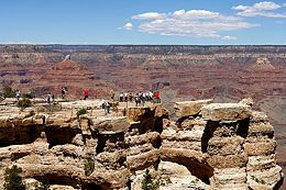 If it is your first visit to Grand Canyon National Park and/or you are traveling with children, you'll most likely want to visit the South Rim for its relative abundance of hotels, services and activities.