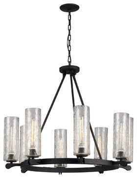 Trans Globe Lighting 70588 Hammered Glass Modern / Contemporary Chandelier - contemporary - Chandeliers - Arcadian Home & Lighting
