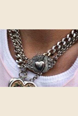 rebel vintage heart locket