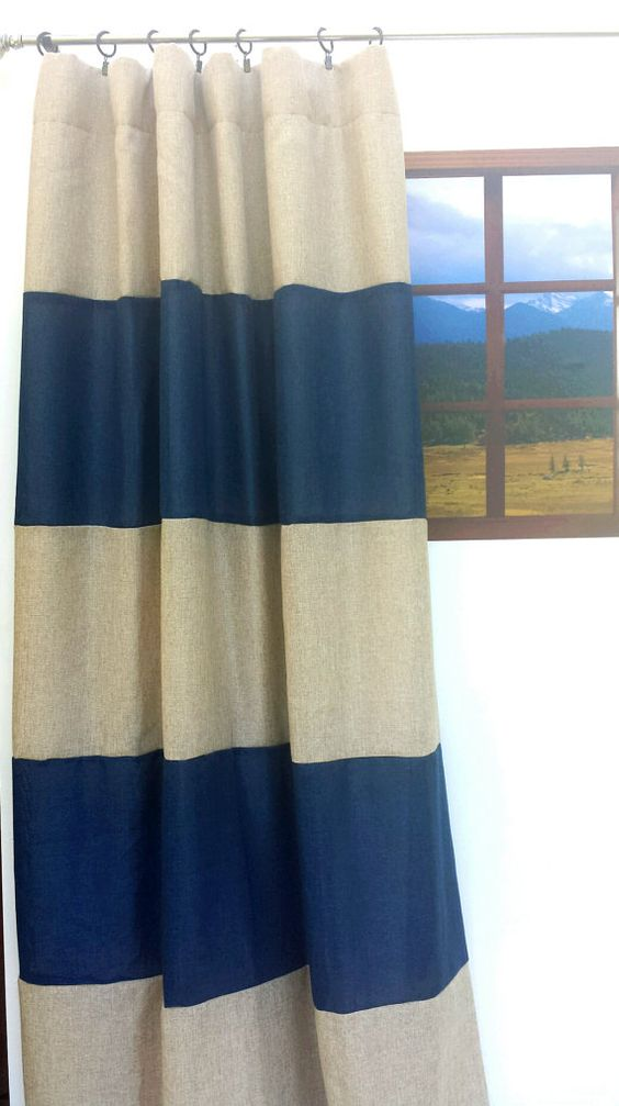 Hey, I found this really awesome Etsy listing at https://www.etsy.com/listing/250168119/custom-striped-drapes-striped-curtains