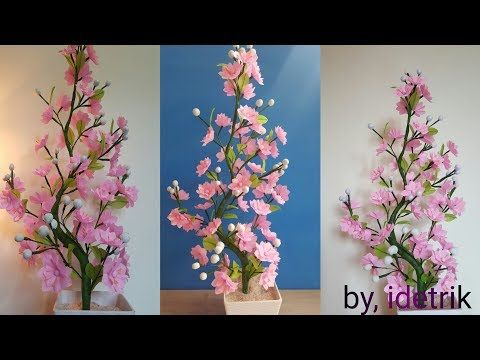 Cara Membuat Bunga Plastik Kresek Beautiful Flower Craft From