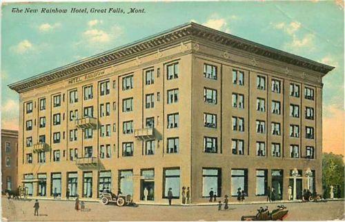 Postcard The New Rainbow Hotel Great Falls Montana Ebay History Pinterest