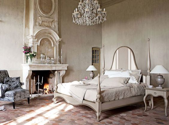 Camera da letto in stile shabby chic n.21
