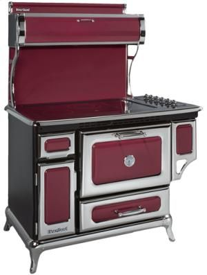 "6210CRANBERRY by Heartland in Arkansas, Kansas, Missouri, & Oklahoma - Cranberry 48"" Classic Electric Range - Model 6210"