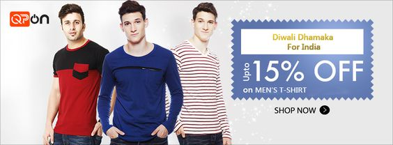 #Qpon is giving a good #offers on #Men's T-#shirt! Click here.  http://qpon.bz/