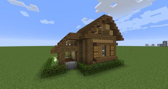 マイクラ 小さい木の家の建て方 設計図 2020 家 出窓 木の家