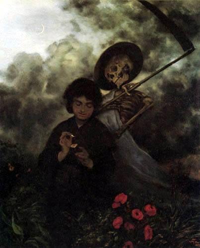 Hans Thoma, Das Mädchen und der Tod, c. 1872