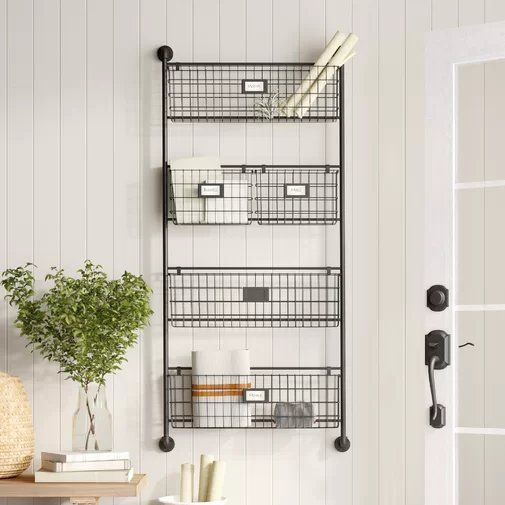 Julianne Wall Organizer With Wall Baskets Baskets On Wall Wall Organization Wall File
