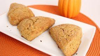 Pumpkin Scones Recipe - Laura in the Kitchen - Internet Cooking Show Starring Laura Vitale