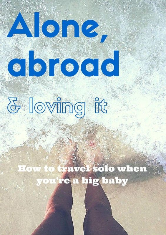 """Ever thought to yourself, """"I wish I could do that""""? You totally can. I'm a big baby and I travel solo AND just moved to a new country all by myself. Here are my tips for conquering anxiety abroad on whileimyoungandskinny.com"""