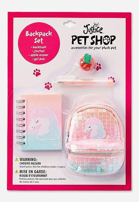 Pet Shop Ombre Unicorn Backpack Set Justice Pet Shop Girl