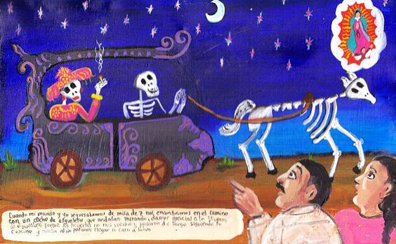 Retablos — When we were coming back from the evening mass we...