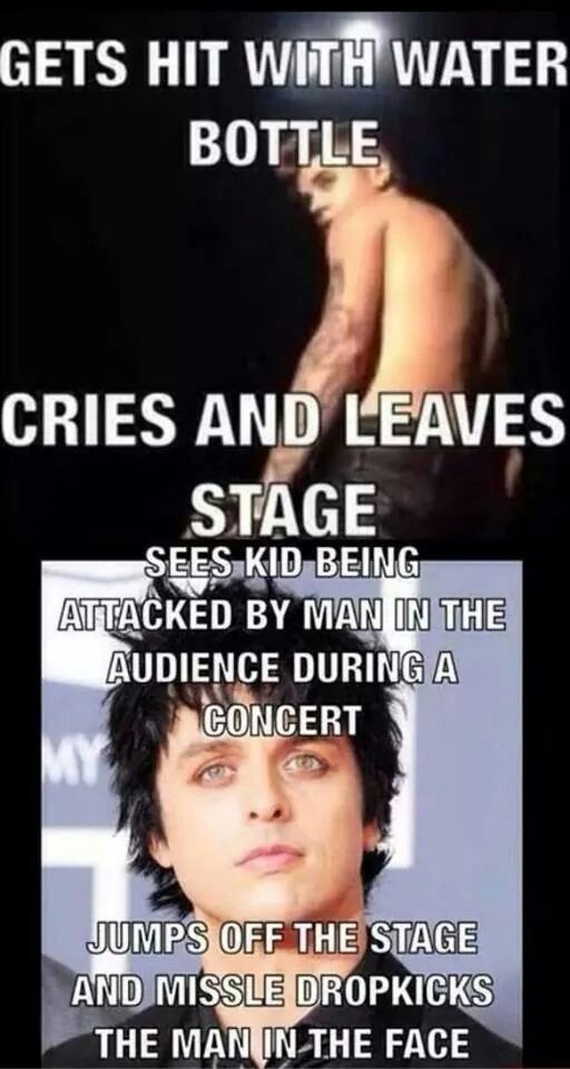 AND ANDY BIERSACK BROKE THREE RIBS DURING A SHOW, HE FINISHED THE SHOW AND THE REST OF THE TOUR!!