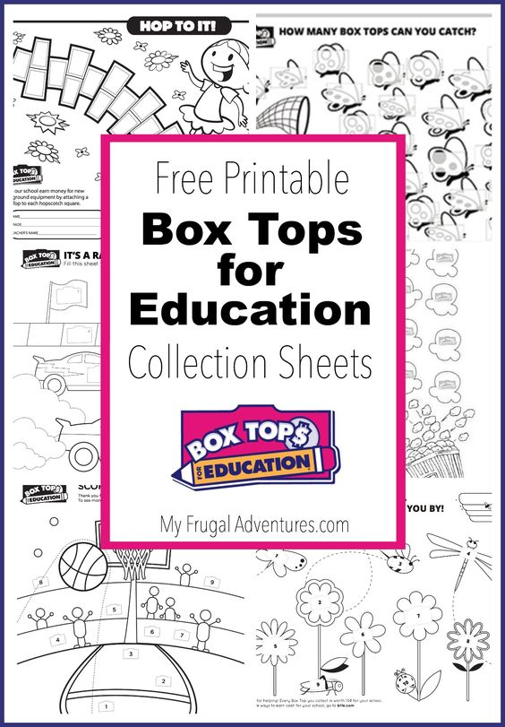 10 Printable Box Tops for Education Collection Sheets   Boxes, Box ...