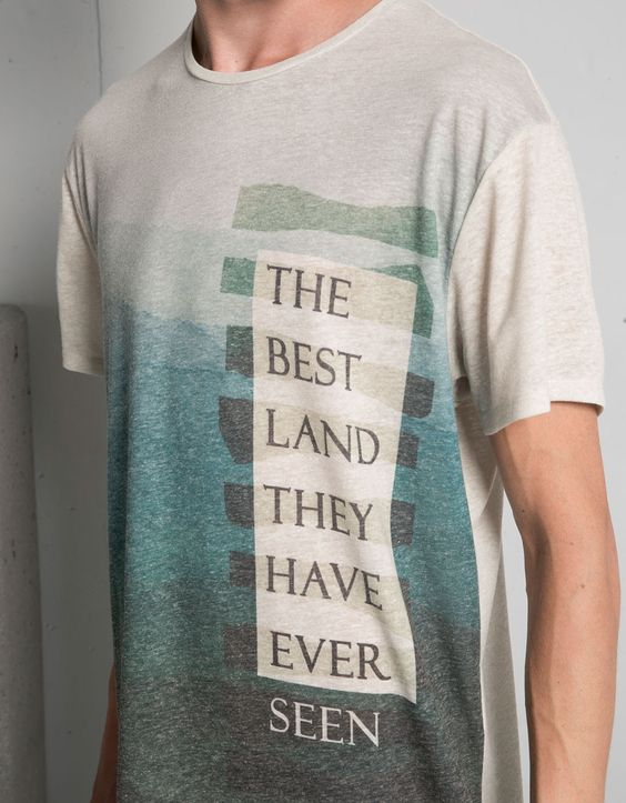 Camiseta degradado 'Best land' - Camisetas - Bershka España