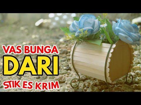 30 Ide Kreatif Cara Membuat Vas Bunga Mewah Dari Stik Es Krim