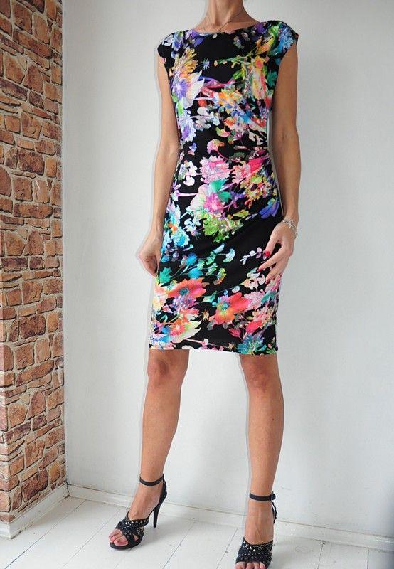 Wallis Sukienka Czarna W Kwiaty 36 Vinted Pl Dresses Dresses With Sleeves Short Sleeve Dresses