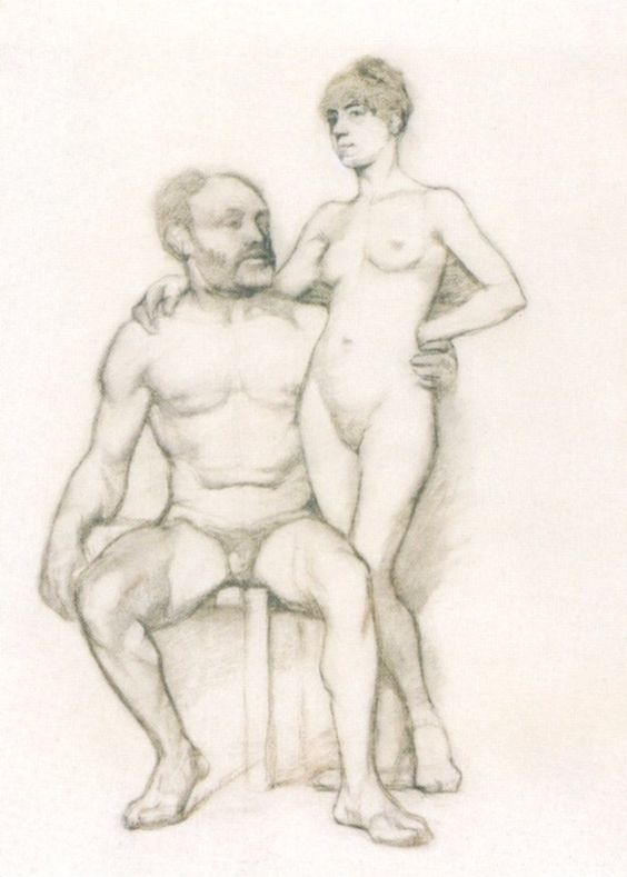 Toulouse-Lautrec 1882 académies fusain sur papier 2.