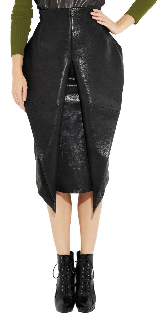 artfully folded womens leather skirt leather skirts