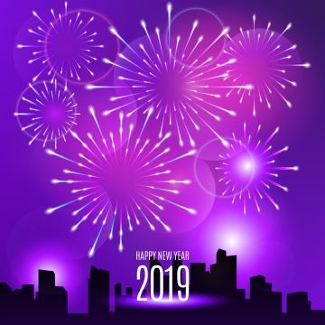 Realistic Fireworks New Year 2019 Background New Year Background Png And Vector With Transparent Background For Free Download Fireworks New Years Background Gold Poster