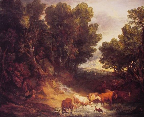 Thomas Gainsborough (1727-1788) the_watering_place