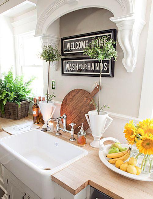 best 25+ over the kitchen sink decor ideas on pinterest | shelves