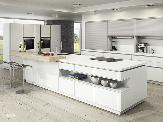 ewe Vida 07, white Got a great kitchen isle ) Kitchens - nobilia küchen katalog