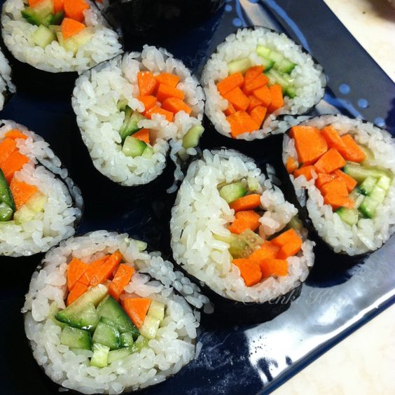 Homemade Veggie Sushi vegan