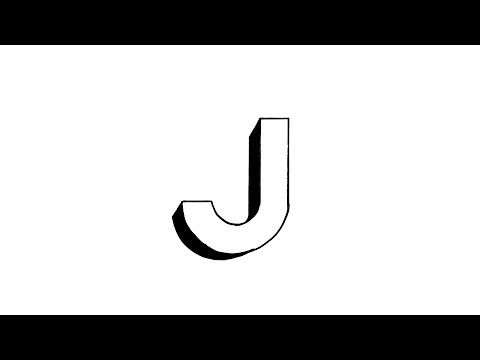 How To Draw The Letter J In 3d With Images Lettering Letter J