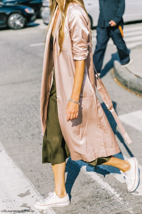 Embrace two of the season's hottest trends by teaming pink with khaki for a chic colour combination the fashion crowd are loving. The feminine shade takes the edge off the military hue, so layer pink knits and dresses with khaki jackets and coats, or invest in accessories – we love the must-have Gucci loafers in blush – for a subtler nod to the trend...