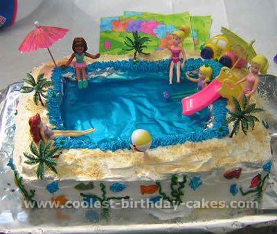 Coolest Pool And Jello Cake Recipe Ideas | Jello Cake, Pool Party Cakes And  Jello Cake Recipes