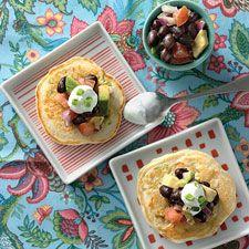 Corn and scallion sourdough pancakes