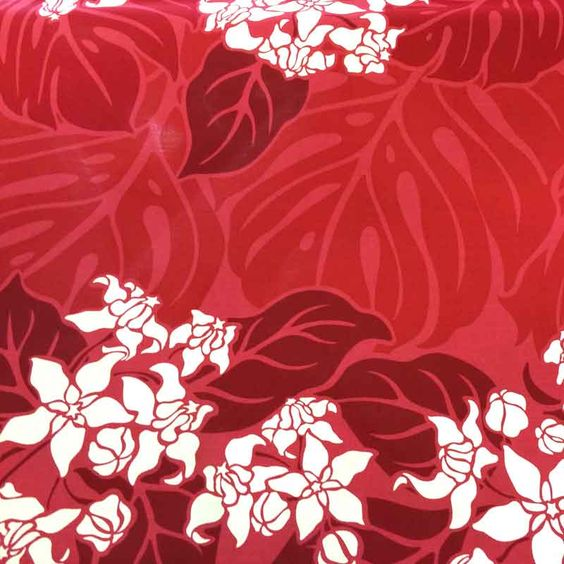 Shirhama Mariner | Rakuten Global Market: Hawaiian fabric red 3-line flower & Monstera Pau skirt fabric Hula fs04gm