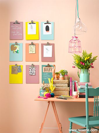 Paint colour trends for 2015 to 2016, pastel contrasts, yellow & turquoise pops: