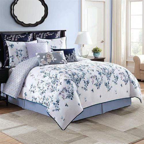 Willow Floral Comforter Bedding Comforter Sets Bed Linens Luxury Bed Linen Design