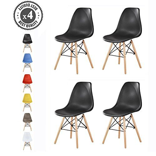 Set Of 4 Modern Design Dining Chairs Eiffel Retro Lounge Chairs