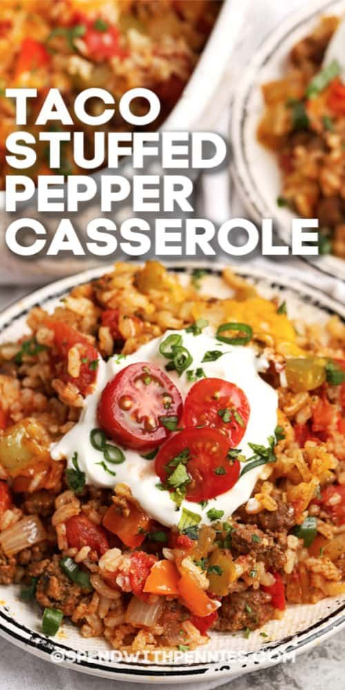 Quick Easy To Make Stuffed Pepper Casserole Is A Dish The Whole Family Will Love In 2020 Stuffed Peppers Easy Casserole Recipes Stuffed Pepper Casserole