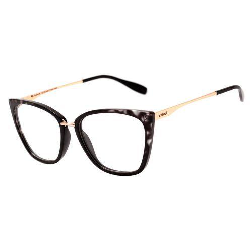 Oculos De Grau Colcci Aretha Preto Mesclado Brilho Lente 5 7 Cm